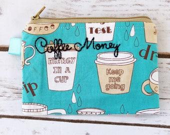 Coffee Money Coin Pouch / coin purse