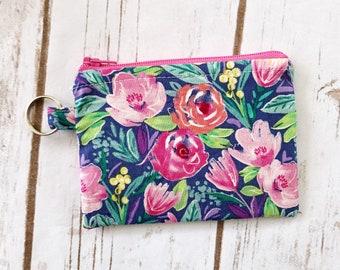 Floral coin pouch / coin purse