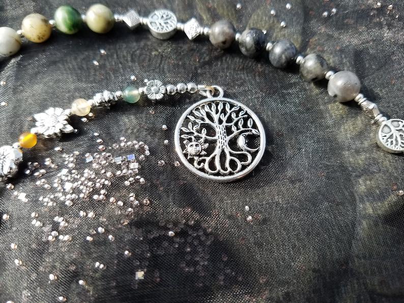 Five Elements Ladder, Pagan Prayer Beads, Witches Ladder, Meditation Beads,  Worry Beads, Pagan Rosary, Prayer Mala, Pocket Mala