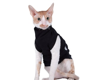 Kotomoda CAT WEAR Turtleneck maxi Black cat