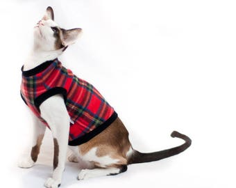 Kotomoda CAT WEAR Sweater Plaid fleece