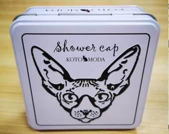 Kotomoda Shower Caps for Sphynx Cats and small pets 20pcs in a tin box