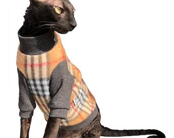 Kotomoda CAT WEAR Turtleneck Brown Cage