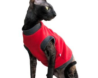 Kotomoda CAT WEAR Pullover Red Fleece