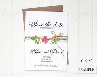 Wedding Invitation Mockup 5x7 Vertical Stationery White