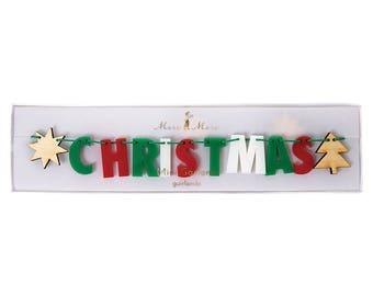 Merry Christmas Bunting   Christmas Decoration   Christmas Garland   Christmas   Garland   Bunting   Merry Christmas Garland