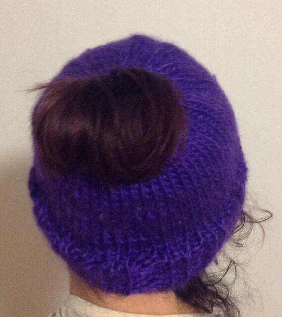 ad46828d0 Vegan pony tail hat