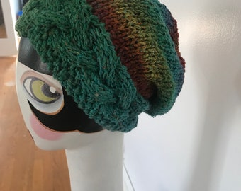 Super slouchy cable band hat