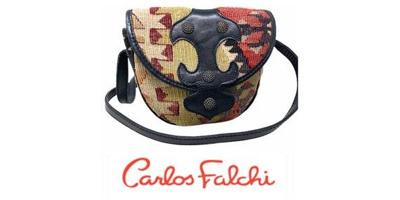 Vintage 80's Carlos Falchi Kilim Southwestern Blan