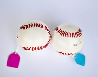 Gender Reveal Baseballs set of two