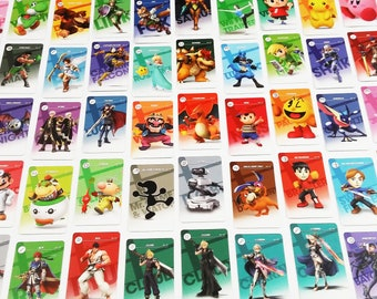 Lively image in printable amiibo cards
