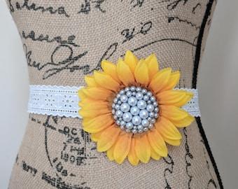 Vintage Sunflower Sash