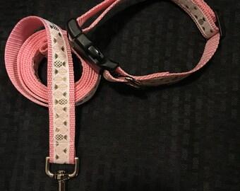 Dog leash and collar set