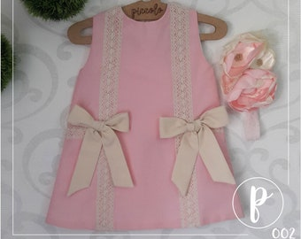 Beautiful Pink and Ivory Dress 9 Months & 12 Months. Dresses, Kids Clothes, Toddler Dresses, Baby Dresses