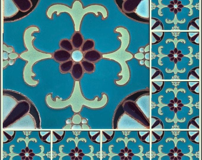 Decorative 6x6 Craftsmen Tile ~ Hand-Painted ~ Pool Safe ~