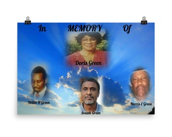 GREEN FAMILY CUSTOM Photo paper poster