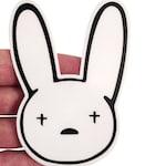 Bad Bunny Vinyl Sticker - Laptop Stickers - Vinyl Die Cut Stickers - Puerto Rico - Latina - Bad Bunny X100PRE