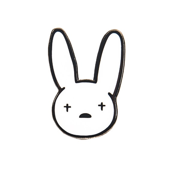 Bad Bunny Enamel Pin - Hard Enamel Pin - Unique Enamel - Cute Enamel Pin -  Backpack Enamel Pin - Bad Bunny Merch - Bad Bunny X100PRE
