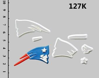 New England Patriot Fondant Cutters New England Patriot Fondant Molds New England Patriot Fondant Cake topper New England Patriot