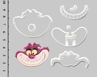 Fondant Cutters Cheshire Cat Cutters Cheshire Cat Gifts Cheshire Cat Party Cheshire Cat Baby Shower Cheshire Cat Cake Cheshire