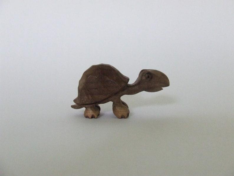 Wooden Turtle Figurine