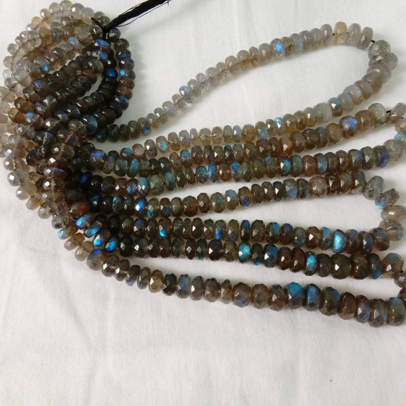AAA+blue fleshy labredorite faceted beads good attractive look nice blue Colour  size6to9m.m