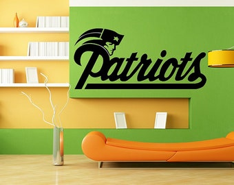 More colors. New England Patriots Logo NFL Wall Art Sticker ...  sc 1 st  Etsy : new england patriots wall decals - www.pureclipart.com