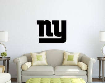 New York Giants Vinyl Decal NFL Sticker Wall Logo Sport Home Interior Removable Garage Man Cave Decor
