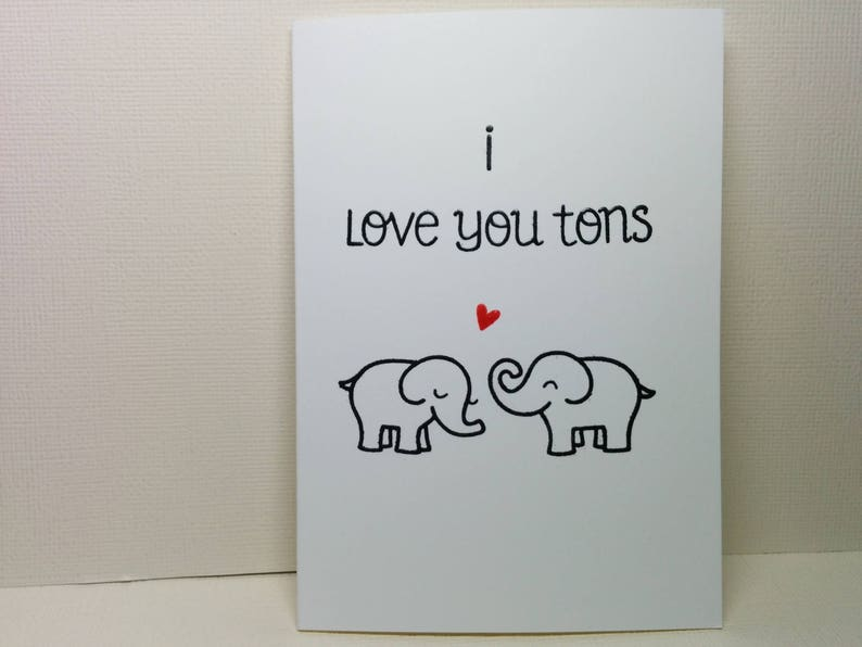 cd103d9007 I Love You Tons   Etsy