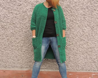 92dd59ba5 Mohair knit cardigan Cape loose open Oversized long cloak | Etsy