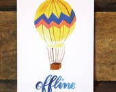 Postcard-off-line card, greeting card, balloon, colorful