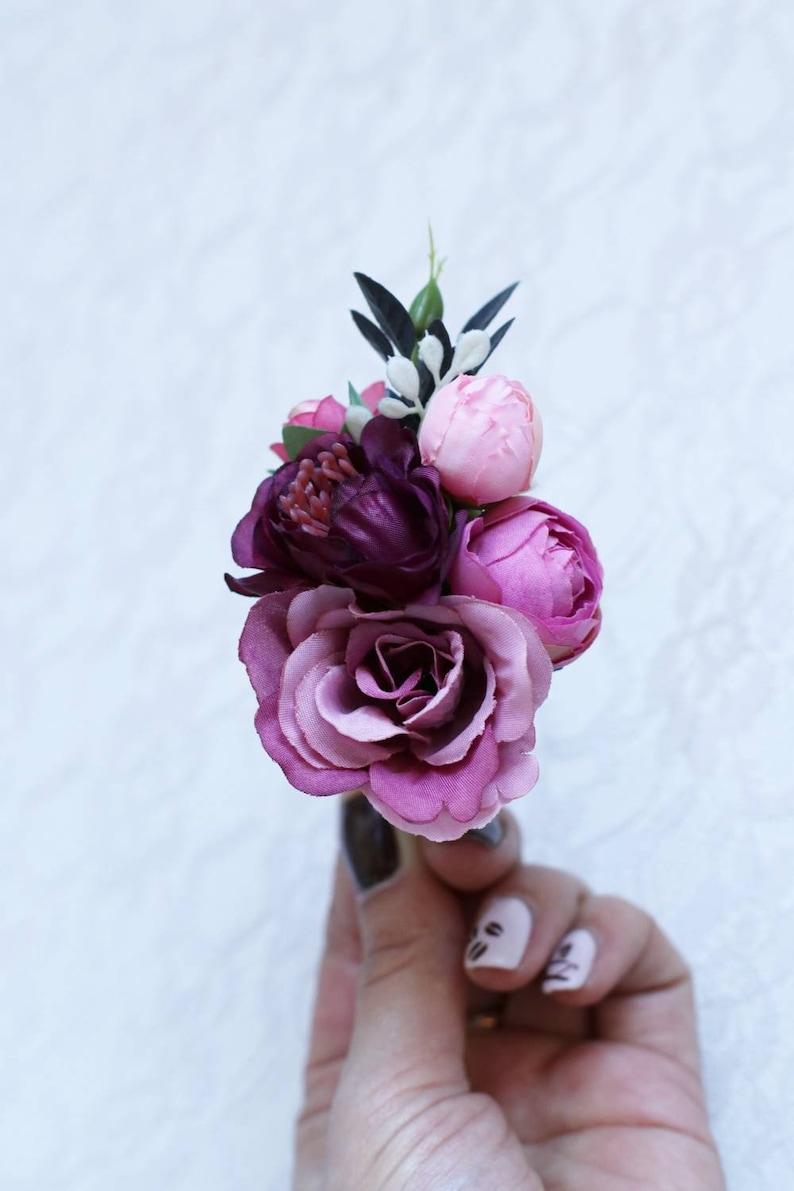 Wedding set boutonniere corsage marsala burgundy blush pink prom rustic boho Fiance