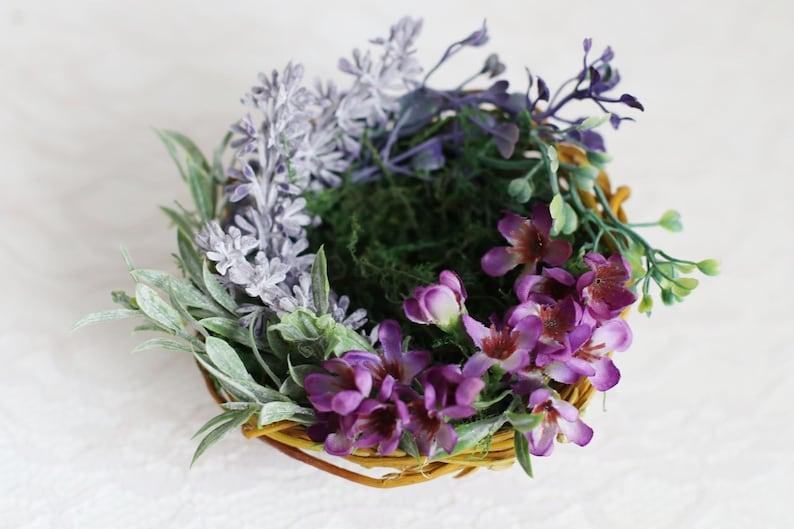 Lavender nest for wedding rings