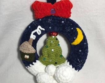Weihnachten Kranzready To Shipkranzhäkeln Kranz Etsy