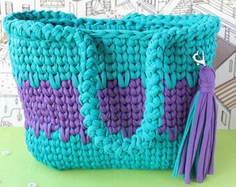 READY TO SHIP/Crochet handbag/Summer bag/Beach bag/Crochet tote/Shoulder bag/Market bag/Shopping bag/Crochet beach bag/Crochet purse/Bag