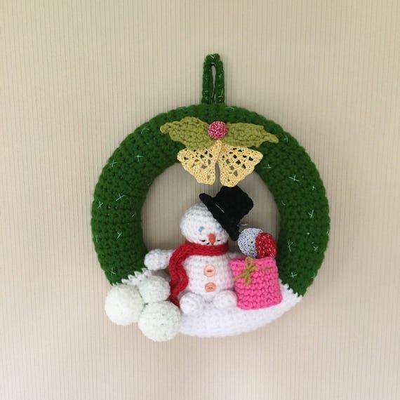 Couronnes Crochet Couronne Porte Suspendu Couronne De Noel Couronne De Lavent Couronne Crochet Porte Suspendue Decs Bonhomme De Neige
