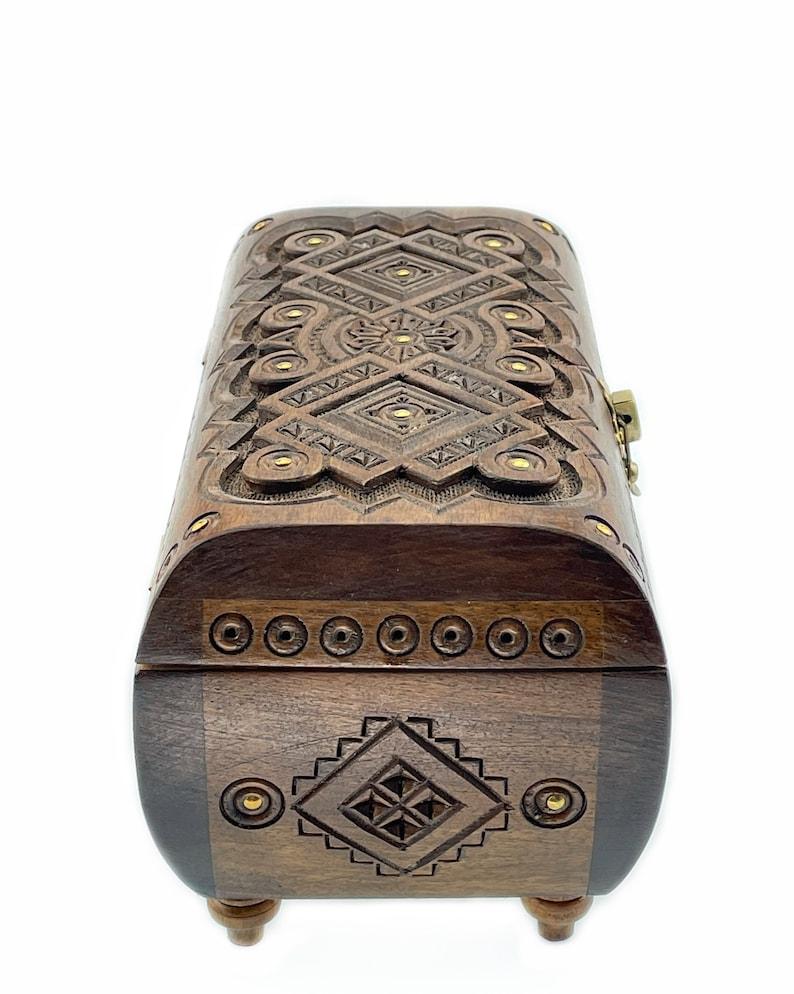 Wooden Jewelry Box Memory Box Decorative Box Keepsake Box 5th Anniversary Gift For Wife Handmade Jewelry box Wooden Gift For Her Present Box
