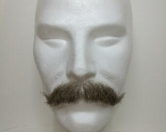 Facial hair- moustache. LI39