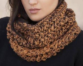 handmade knit cowl - neck warmer - scarf - crochet - birthday gift for her - women's accessories