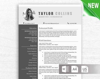 Creative Resume Template for Word, Instant Download CV Template, Design with Cover Letter, Icons, Multiple Pages, Easy Edit
