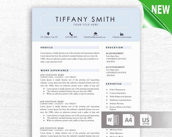 Two page resume | Etsy