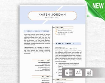 Professional Resume Template, CV Template for MS Word, Creative Resume, Modern Resume Design, Resume Instant Download