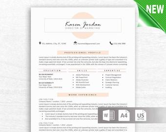 Resume Template CV Professional Modern Creative MS Word Free Templates Design Teacher Nurse Instant Download Txcb Executive