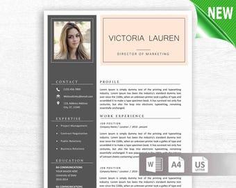 Resume Template CV Professional Modern Creative Templates Word MS Printable Teacher Nurse Free Editable Txcd