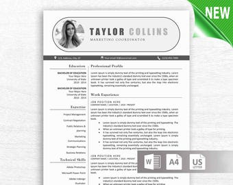 resume template instant download cv template resume template word resume design free cover letter references mac pc resume