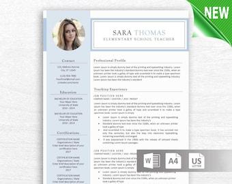 modern resume template cv template cover letter etsy