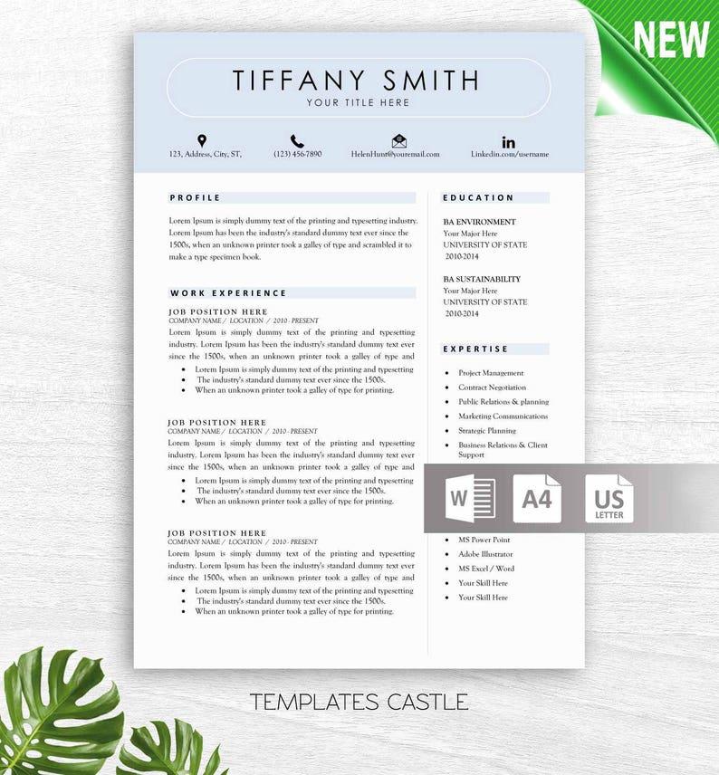 Modern Resume Template Word Modern CV Design Templates Instant | Etsy