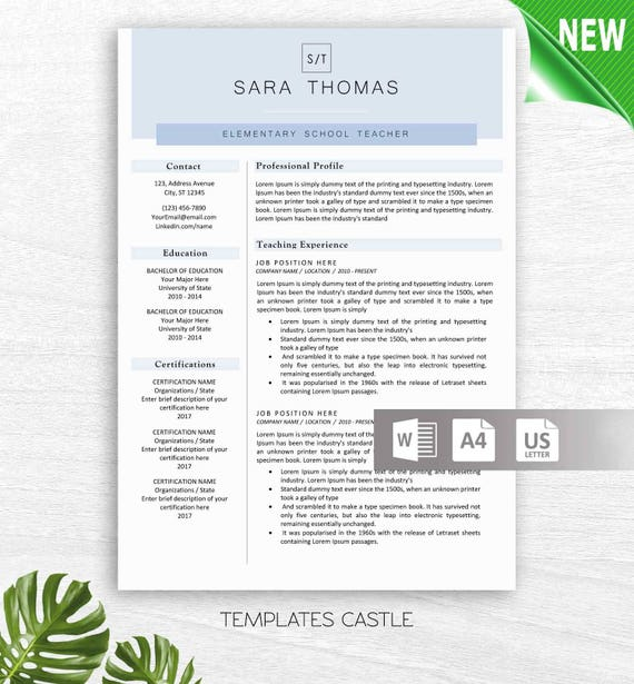 Resume Template Professional CV Modern