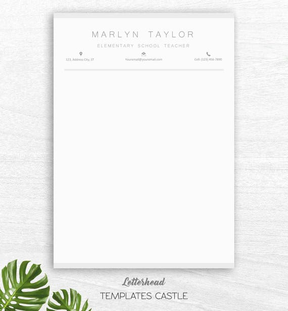 Teacher resume template for word 2 page educator resume etsy like this item spiritdancerdesigns Image collections