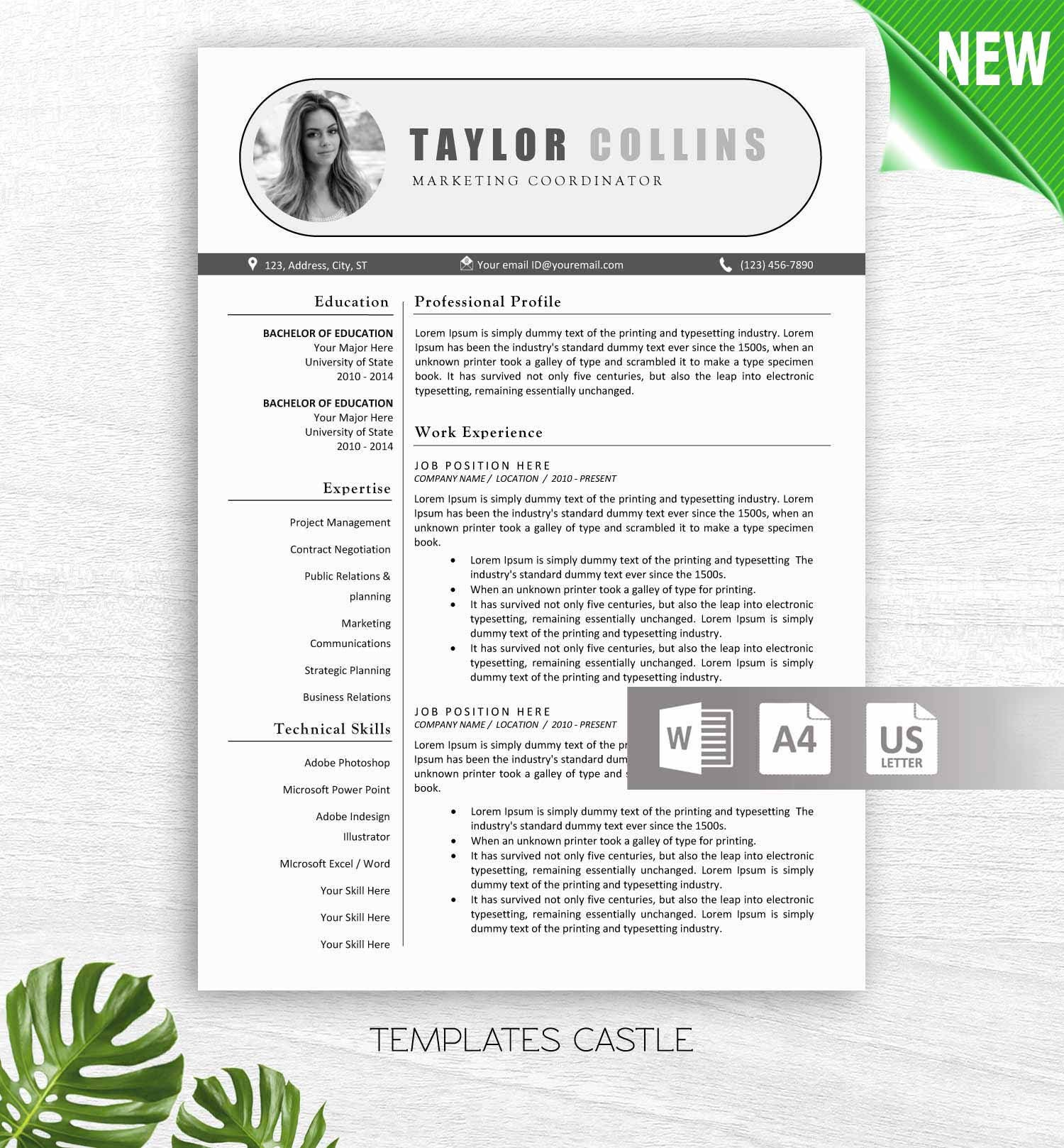 Resume Template Instant Download CV Template Resume Template